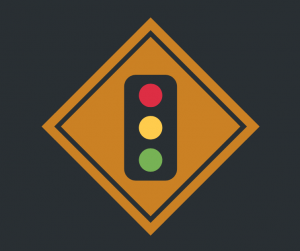 traffic light indicating warning signs